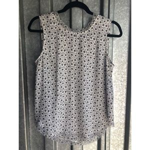 Who What Wear Flower Print Sleeveless Top Sz S